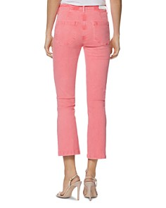 PAIGE - Colette Crop Slim Jeans in Faded Pink Valentine
