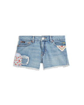 Ralph Lauren - Girls' Distressed Denim Shorts - Big Kid
