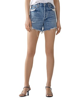 AGOLDE - Dee Ultra High-Rise Classic Denim Shorts in Ricochet