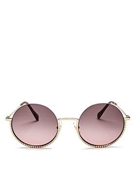 Miu Miu - Women's Round Sunglasses, 52mm