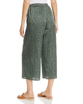 Eileen Fisher - Printed Cropped Pants