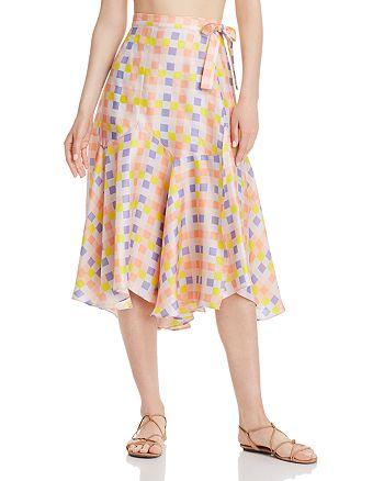 Paper London - Foxglove Printed Silk Skirt