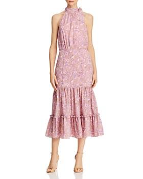 LIKELY - Mona Ruffled Floral Midi Dress