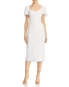 leRumi - Cora Ruched Textured Midi Dress