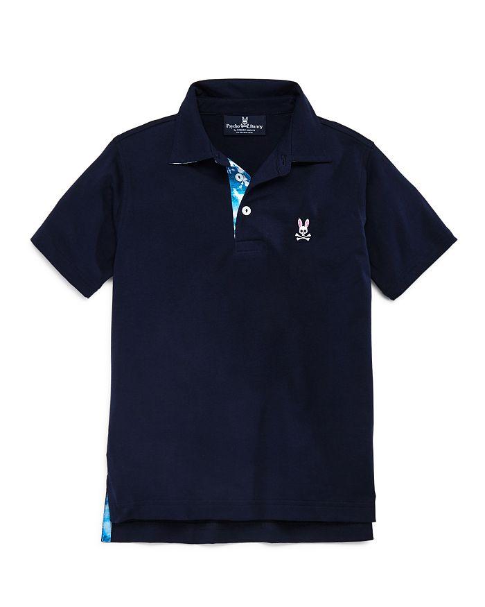 Psycho Bunny - Boys' Tie-Dyed Trim Polo Shirt, Big Kid - 100% Exclusive