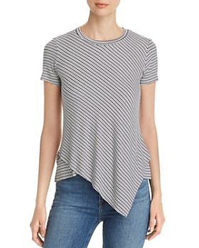 Elan - Asymmetric Striped Tee
