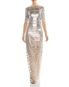 Aidan Mattox - Sequined Column Gown