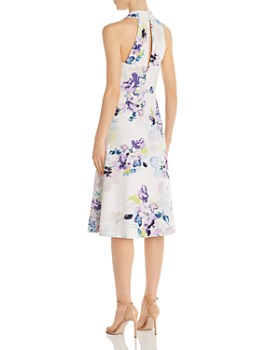 Donna Karan - Floral Scuba-Crepe Dress