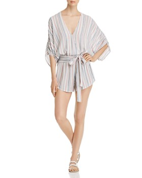 Elan - Striped V-Neck Romper