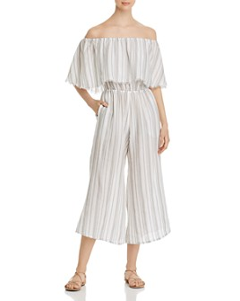Elan - Strapless Ruffled Jumpsuit