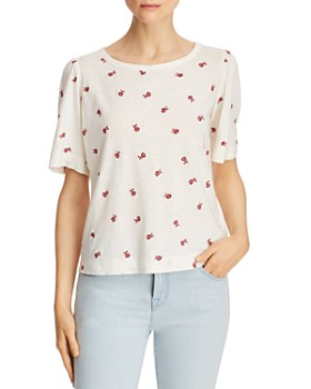 Rebecca Taylor - Marguerite Floral Embroidered Tee