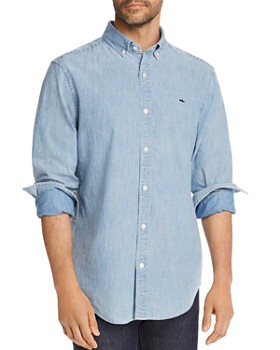 e4e0a92d Vineyard Vines - St. Lawrence Chambray Classic Fit Button-Down Shirt ...