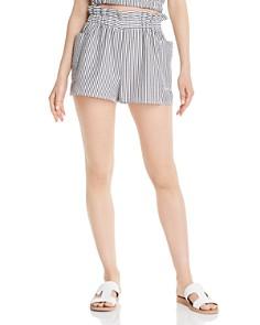 AQUA - Paperbag-Waist Seersucker Shorts - 100% Exclusive