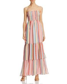 Jack by BB DAKOTA - Rainbow-Stripe Smocked Maxi Dress