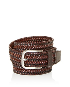 The Men's Store at Bloomingdale's - Men's Woven Stretch Leather Belt - 100% Exclusive