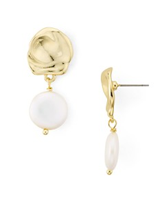 AQUA - Cultured Freshwater Pearl Drop Earrings - 100% Exclusive