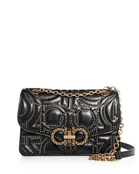 Salvatore Ferragamo - Large Studio Gancini-Studded Leather Crossbody
