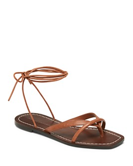 Loeffler Randall - Women's Lilla Leather Flat Sandals