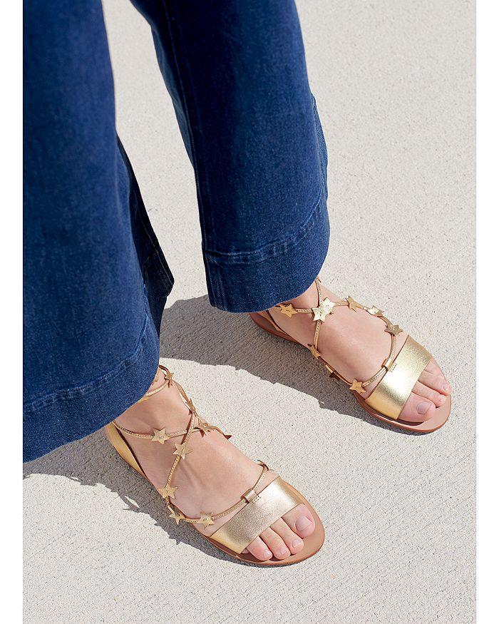 5db7d7a270b5 Loeffler Randall Women s Starla Leather Ankle Tie Sandals ...