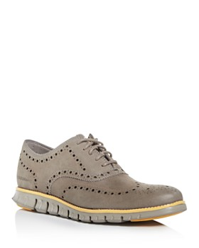Cole Haan - Men's Zerogrand Nubuck Leather Wingtip Oxfords