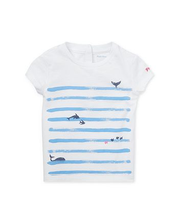 Ralph Lauren - Girls' Stripe & Graphic Tee - Baby