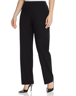 Misook Plus - Straight-Leg Pants