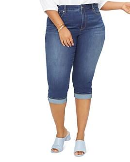NYDJ Plus - Marilyn Cropped Cuffed Jeans in Junipero