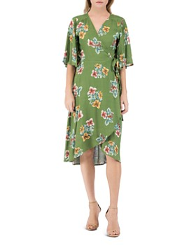 B Collection by Bobeau - Orna Floral-Print Wrap Dress