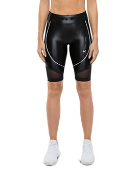 KORAL - High-Rise Mesh-Inset Biker Shorts