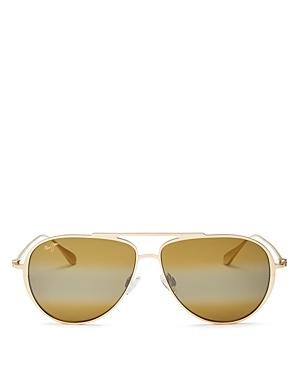 Maui Jim Unisex Shallows Polarized Aviator Sunglasses, 52mm-Jewelry & Accessories