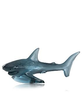 Lalique - Persepolis Blue Large Shark Figure