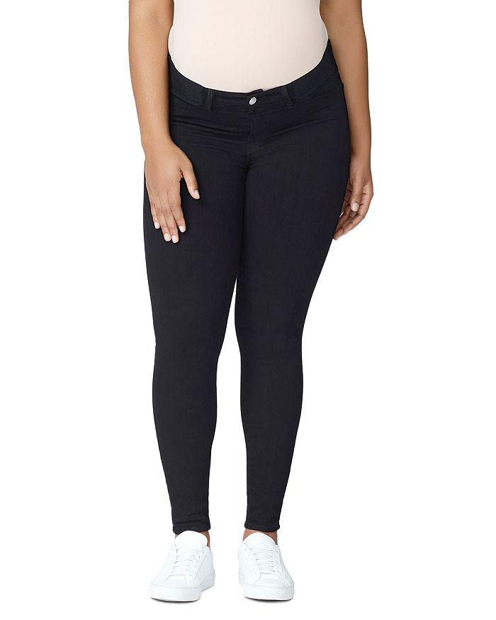 c9ab64c72fc85 Good American - Good Mama Waist-Inset Skinny Maternity Jeans in Black001
