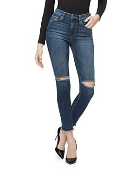 Good American - Good Waist Crop Skinny Jeans in Blue302