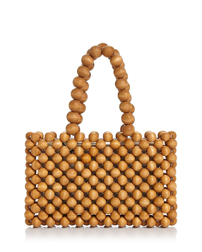 AQUA - Wood Beaded Tote - 100% Exclusive