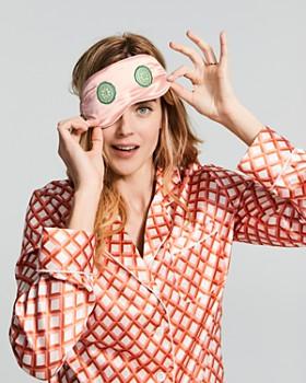 slip - Embroidered Silk Eye Mask