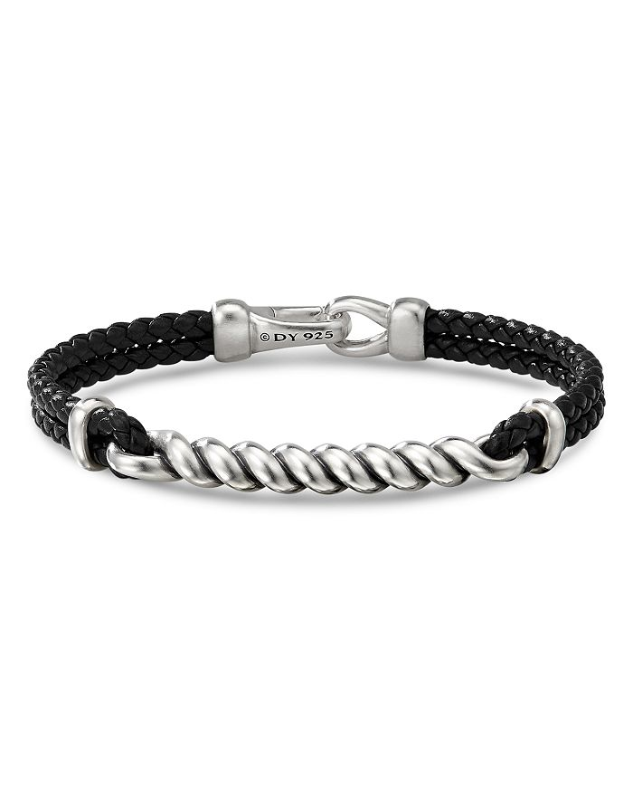 David Yurman Sterling Silver Leather