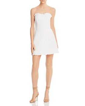 FRENCH CONNECTION - Whisper Ruffle-Trim Sweetheart Dress