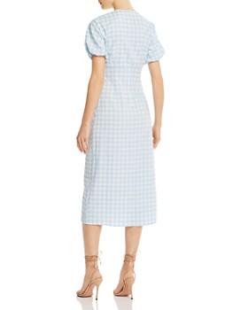 The Fifth Label - Nouveau Tie-Detail Gingham Midi Dress