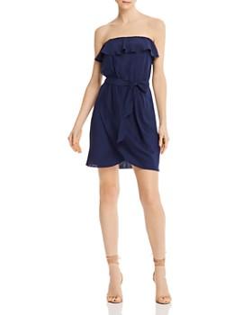 Amanda Uprichard - Joan Ruffled Strapless Mini Dress