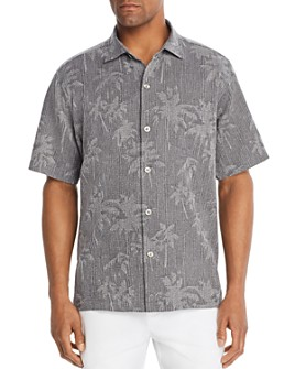 Tommy Bahama - Digital Palm Short-Sleeve Silk Jacquard Classic Fit Shirt