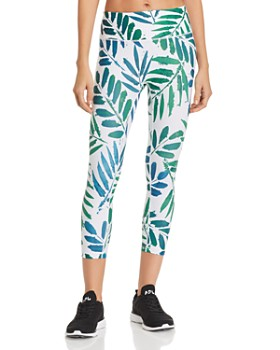 PRISMSPORT - Botanical Print Cropped Leggings