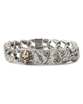 John Varvatos Collection - Sterling Silver & Brass Skulls & Daggers I.D. Bracelet