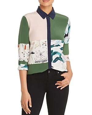 Tory Burch Patchwork Silk Shirt