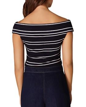 KAREN MILLEN - Striped Off-the-Shoulder Top