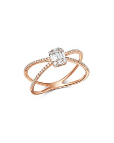 Bloomingdale's - Diamond Mosaic Crossover Band in 14K Rose Gold, 0.35 ct. t.w. - 100% Exclusive