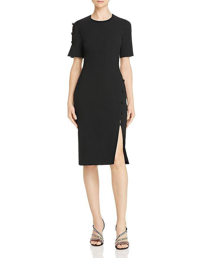 Black Halo - Joanna Button-Detail Dress - 100% Exclusive