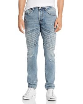 Just Cavalli - Topstitched Slim Fit Jeans in Denim
