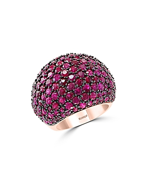 Ruby Statement Ring in 14K Rose Gold