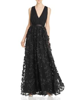 fc0c3820247cb Laundry by Shelli Segal - Floral-Appliqué Gown - 100% Exclusive ...