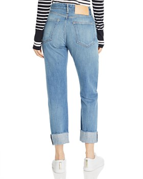 rag & bone - Rosa High-Rise Patched Boyfriend Jeans in Ito